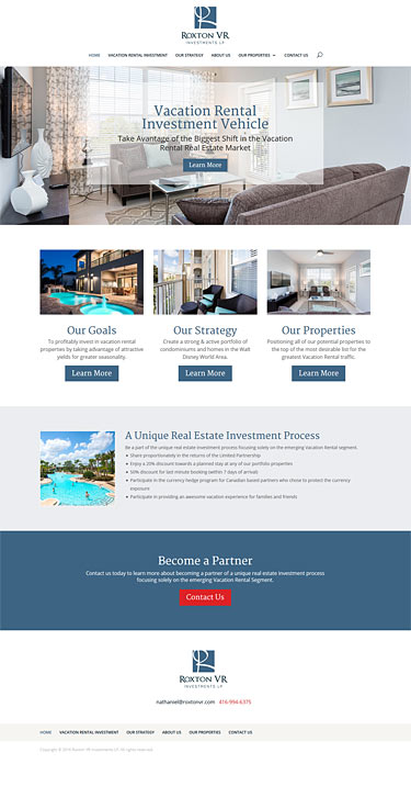 Web Design Roxton VR Home