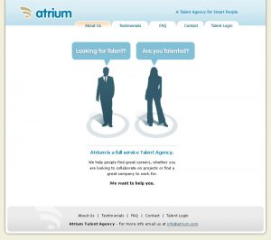 web design - Atrium Home Page