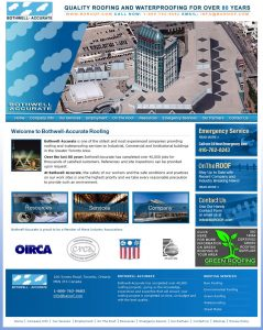 web design - BA Roof Home Page
