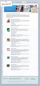 web design - Beck and Call Services Page