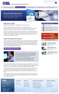 web design - CBL Software page