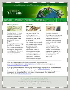 web design - Charting Culture Home Page