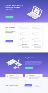 Coding School Layout Pack - Home Page