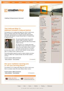 web design - creationstep Home page