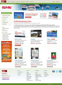 web design eprintagent marketing centre page
