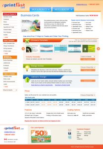 web design eprintfast product page