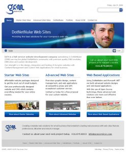 web design - GCM Home Page
