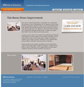 web design - GTA Service Page