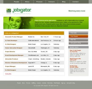 web design - Jobigator Home page