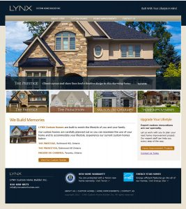 web design - LYNX Home page