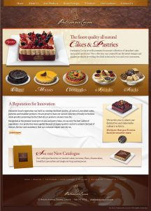 web design - Patisserie Cocoa Home page