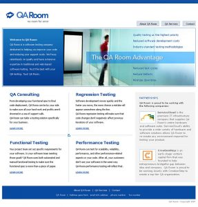 Web Design - QA Room Home page