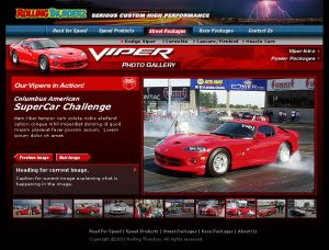 Web Design - Rolling Thunderz Gallery page