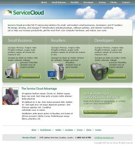 Web Design - Service Cloud Home page