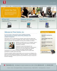 Web Design - Time Centre Home page