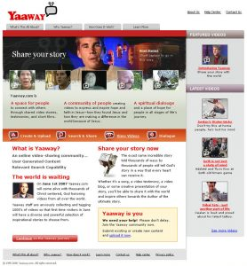 Web Design - Yaaway Home page