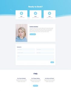 Babysitter Layout Pack - Booking Page