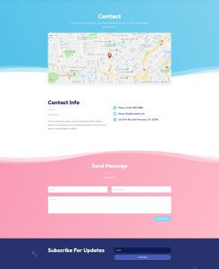 Babysitter Layout Pack - Contact Page