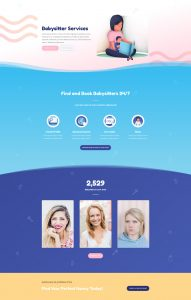 Babysitter Layout Pack - Home Page
