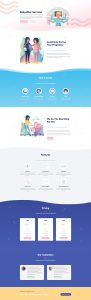Babysitter Layout Pack - Landing Page