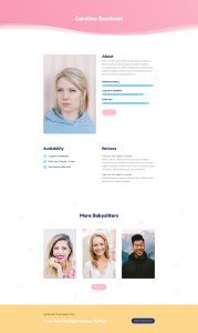 Babysitter Layout Pack - Profile Page