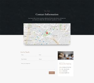 Bakery Layout Pack - Contact Page