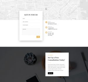 Business Consultant Layout Pack - Contact Page