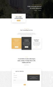 Business Consultant Layout Pack - Home Page