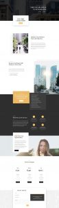 Business Consultant Layout Pack - Landing Page