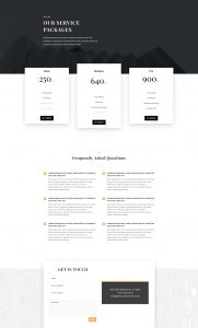 Business Consultant Layout Pack - Pricing Page