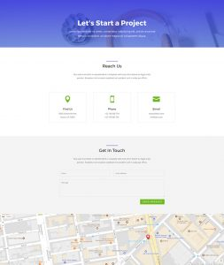 Business Layout Pack - Contact Page