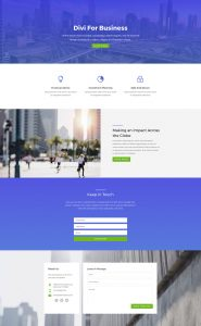 Business Layout Pack - Home Page