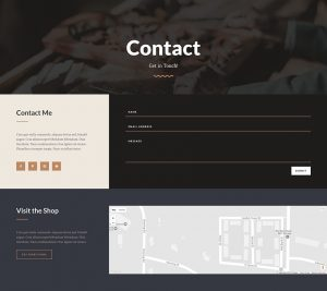 Carpenter Layout Pack - Contact Page