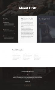 Carpenter Layout Pack - About Page