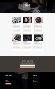 Coffee Shop Layout Pack - Blog Page
