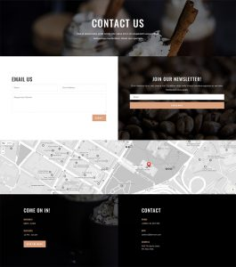 Coffee Shop Layout Pack - Contact Page