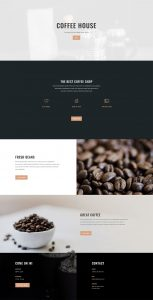 Coffee Shop Layout Pack - Home Page