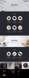 Coffee Shop Layout Pack - Menu Page