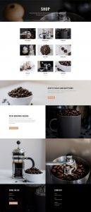 Coffee Shop Layout Pack - Shop Page