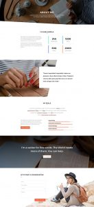 Copywriter Layout Pack - About Page