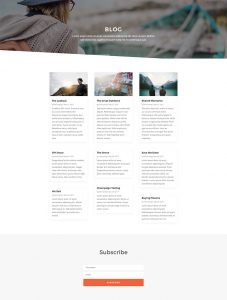 Copywriter Layout Pack - Blog Page
