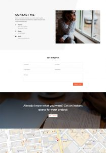 Copywriter Layout Pack - Contact Page
