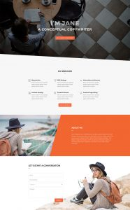 Copywriter Layout Pack - Home Page