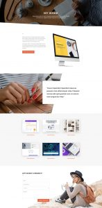 Copywriter Layout Pack - Portfolio Page