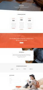 Copywriter Layout Pack - Pricing Page