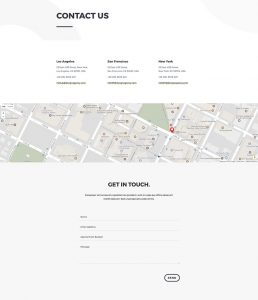 Design Agency Layout Pack - Contact Page