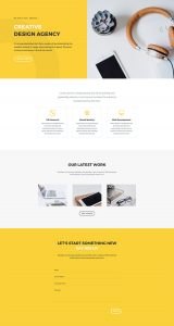 Design Agency Layout Pack - Home Page