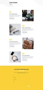 Design Agency Layout Pack - Portfolio Page