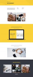 Design Agency Layout Pack - Project 2 Page