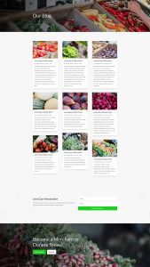 Farmers Market Layout Pack - Blog Page